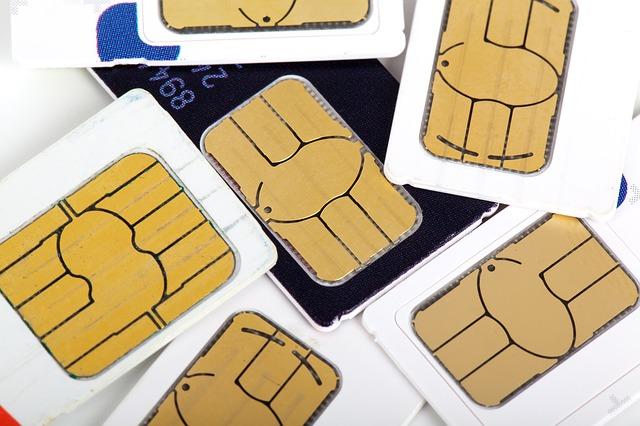 Prepaid Karten auf einem Haufen